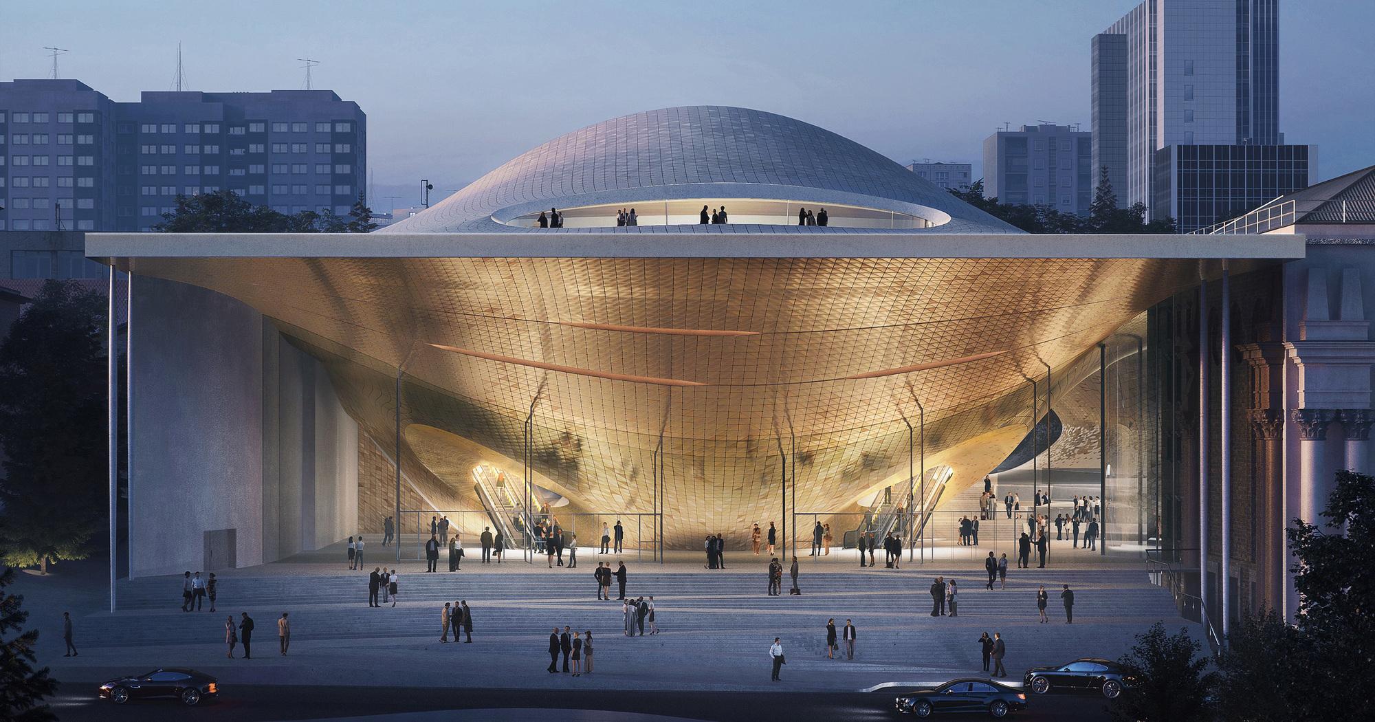 Zaha Hadid Architects Reinterprets Sound Waves for the Sverdlovsk Philharmonic Concert Hall