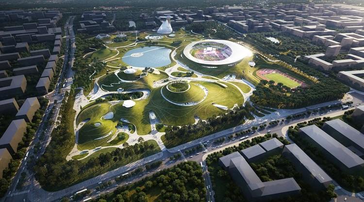 Campus Deportivo de Quzhou. Imagen cortesía de MAD Architects