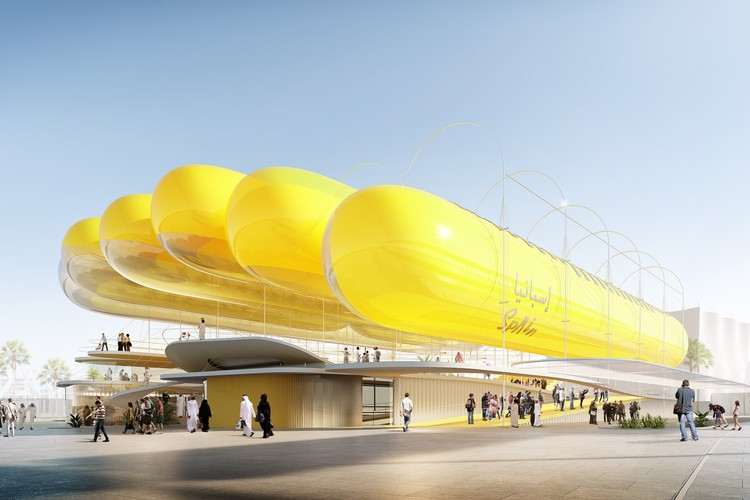 Selgascano + FRPO Design Inflatable Canopy for Spain's EXPO 2020 National Pavilion, Spanish Pavilion. Image Courtesy of Selgascano & FRPO