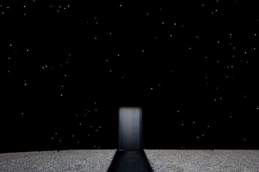 Asif Khan's Vantablack Pavilion at the Pyeongchang Olympics. Image © Luke Hayes