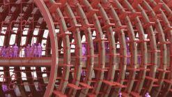 Moinho d'água gigante de Penda e Smartvoll Design para o Pavilhão da Áustria na EXPO 2020
