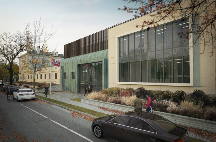 Fentress Designs Norwegian Chancery in Washington D.C. as a Homage to National History, Courtesy of Fentress Architects