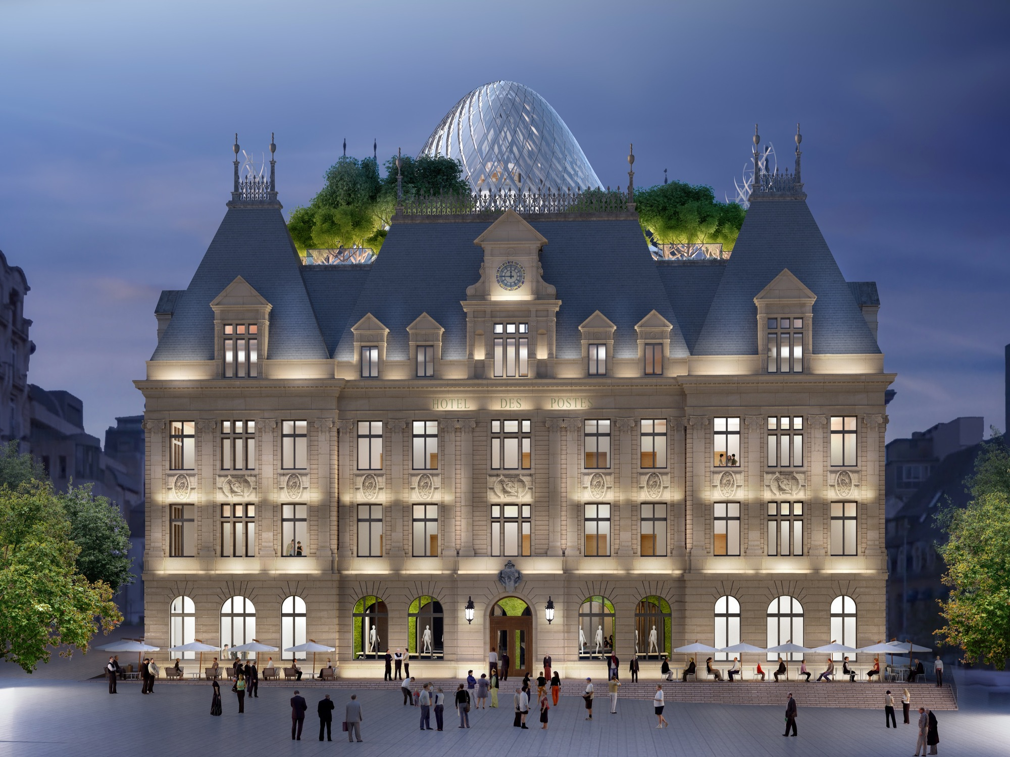 "Vincent Callebaut Architectures Creates a Futurist ""Metamorphosis"" of Luxembourg's Hotel Des Postes"