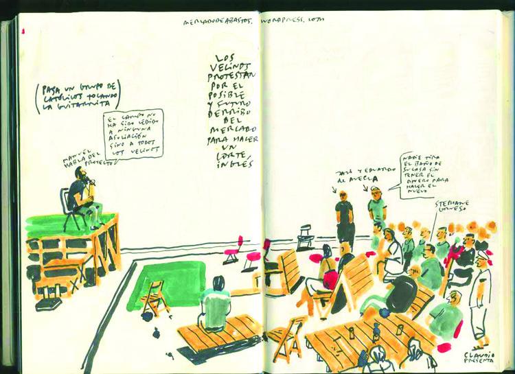 Parlamento Cidadão, Cuadernos del Sol, ilustrações de Enrique Flores