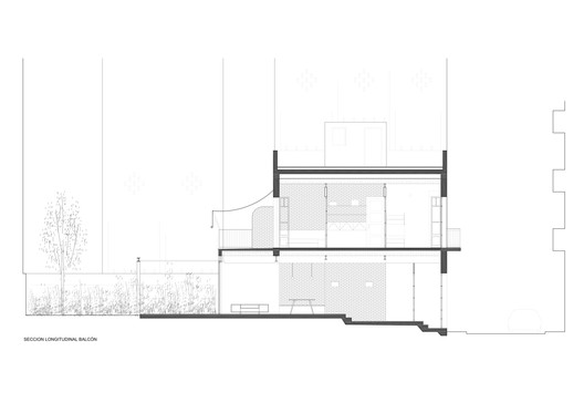 Longitudinal Section - Balcony