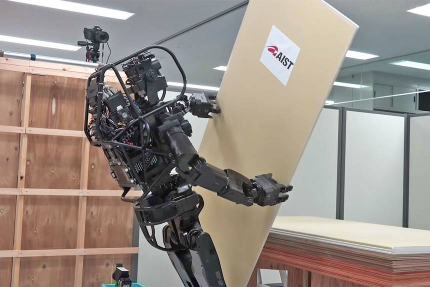 Japanese Robot Capable of Installing Drywall by Itself