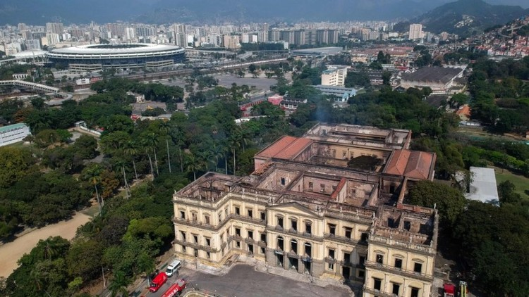 A Month After the Fire, The National Museum Receives Emergency Repair and Demands a Budget of $27 Million, National Museum. Image: Mauro Pimentel/AFP