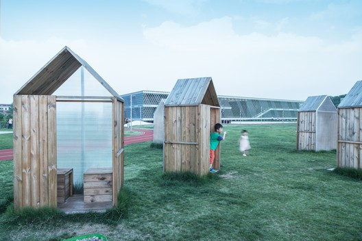 Mobile cabin, community garden. Image © Lianping Mao