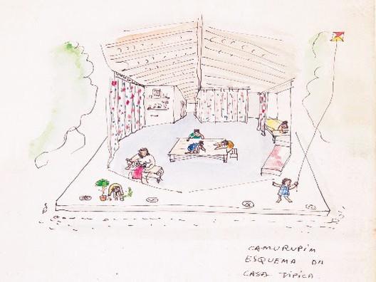 """Livro """"Uma ideia de arquitetura – escritos de Lina Bo Bardi"""" será lançado no MCB, Divulgação/Croqui: Lina Bo Bardi. Image Cortesia de MCB"""