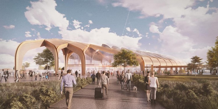Designs by Grimshaw and Arup Revealed for the UK's High Speed Rail Stations, © Arup via HS2