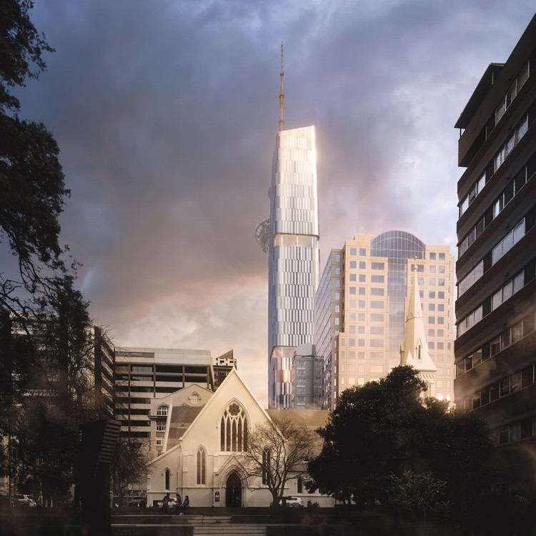 Woods Bagot and Peddle Thorp Win Auckland Skyscraper Competition, 65 Federal Street. Image Courtesy of Woods Bagot