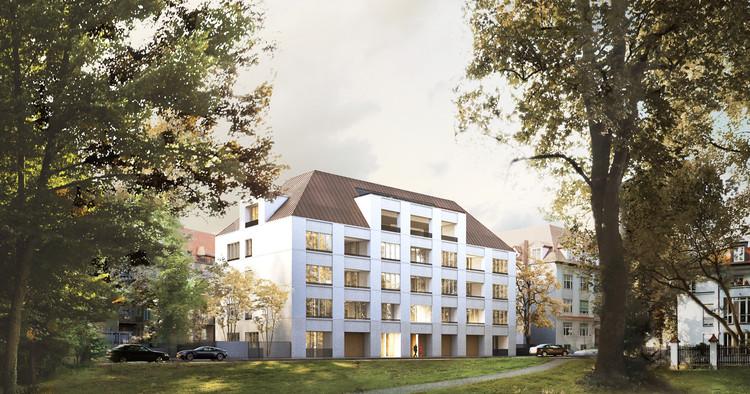 Los departamentos de David Chipperfield y Euroboden Munich representarán un moderno palacio en la ciudad, © Euroboden