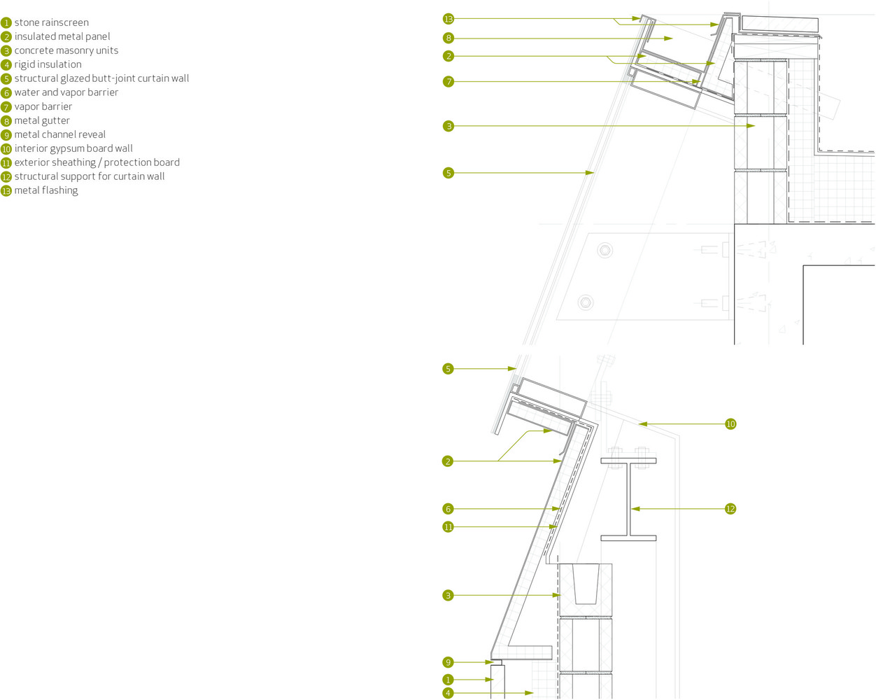 Gallery Of 50 The Best Facade Construction Details 38 Wall Schematic Engineering Diagram Detailsfacade Detail Cubic Buildings