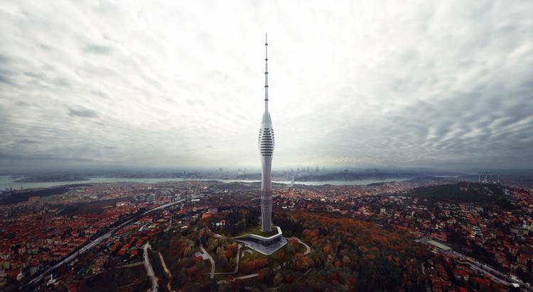 Torre de Çamlıca, la estructura más alta de Estambul, abriría sus puertas a fines de 2019, Render de la Torre de Çamlıca. Image Cortesía de MIR