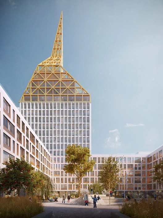 Golden City. Image Courtesy of KCAP and Orange Architects