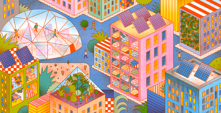 "IMAGINE Podcast Launches First Episode ""Cities for People"" Featuring Jan Gehl, Illustration by Yime"