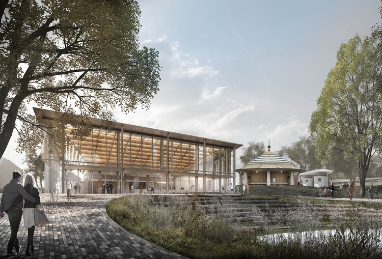 CUBO projeta pavilhão que conecta centro histórico ao jardim botânico de Aarhus , Cortesia de CUBO
