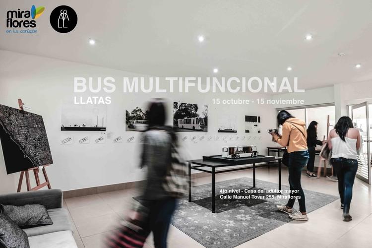 Exhibición: Barrio Móvil - Bus Multifuncional / Miraflores, Lima, © A
