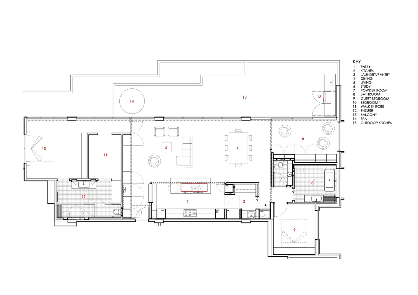 Gallery of TJ House / Ben Walker Architects - 12 on dunphy house floor plan, stimson house floor plan, duggar house floor plan, borden house floor plan, hoke house floor plan, sowden house floor plan, cullen house floor plan, bates house floor plan, osborne house floor plan, brady house floor plan, huxtable house floor plan, walsh house floor plan,