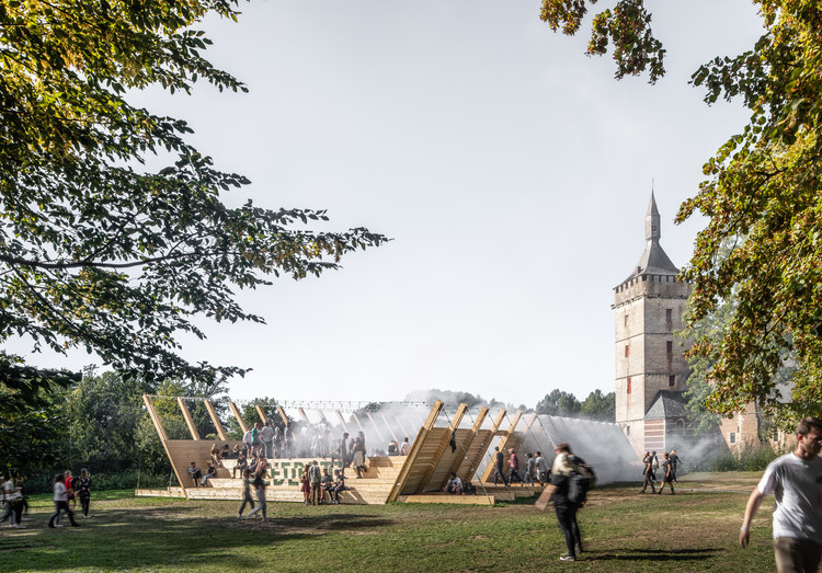 Atelier Bow-Wow Designs Stage for Music Festival at Horst Castle , © Jeroen Verrecht