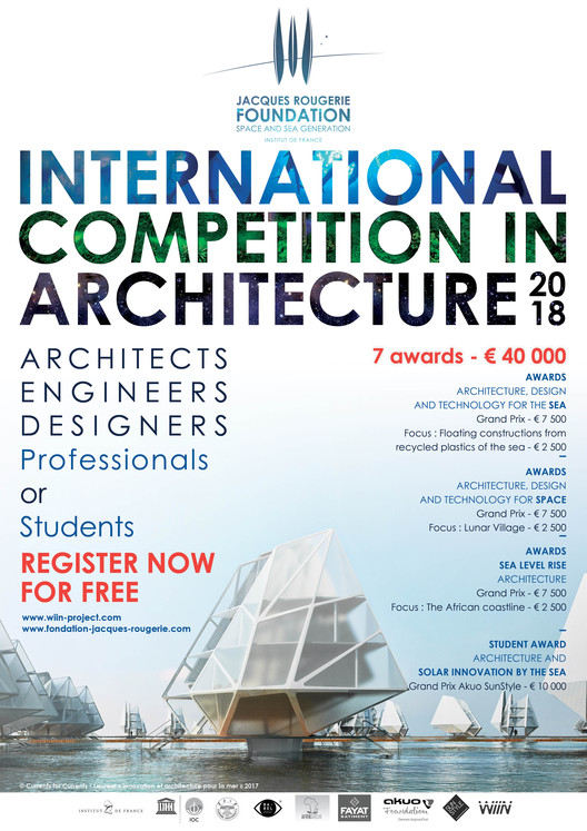 International Competition in Architecture - Jacques Rougerie Foundation, @Jacques Rougerie Foundation
