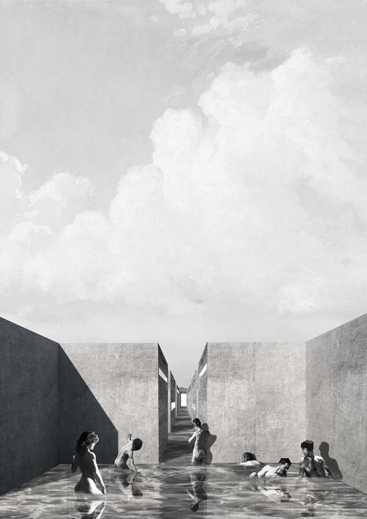 """Un workshop sin ganadores: la experiencia de la EA USS en Chile, Propuesta de la Universidad San Sebastián – Sede Puerto Montt en el workshop """"Paisajes arquetípicos"""" (2017). Image Cortesía de EA USS"""