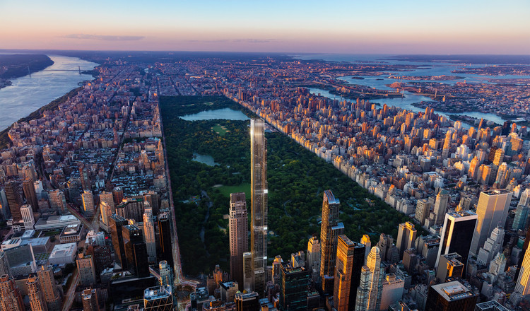 The Tallest Residential Building in the World is coming to New York City, Central Park Tower. Image Courtesy of ASGG & Wordsearch