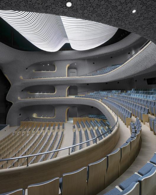 opera hall balcony. Image © Marc Goodwin