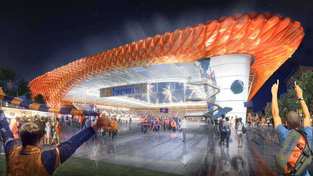 Meis Architects Designs FC Cincinnati Stadium with ETFE Pillows
