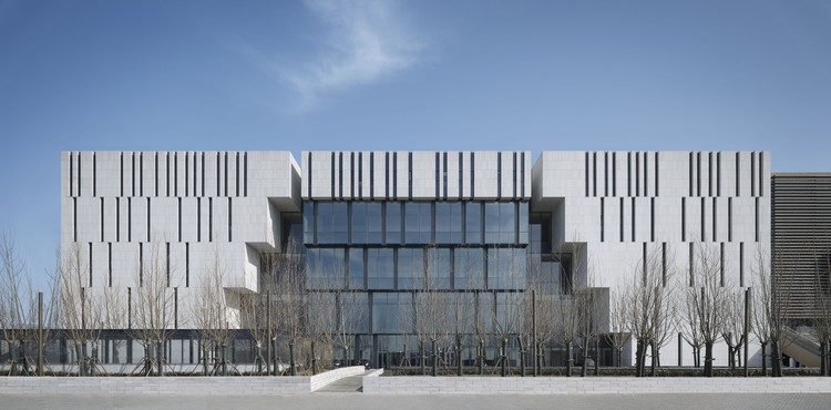 Tianjin Binhai Museum / gmp Architects, West elevation. Image © Christian Gahl
