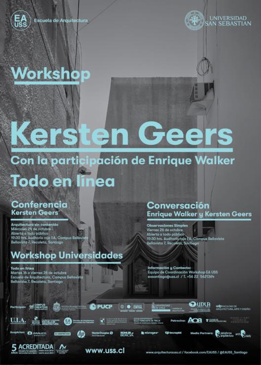 Kersten Geers realizará workshop EA USS y serie de conferencias en Santiago, Cortesía de Workshop EA USS