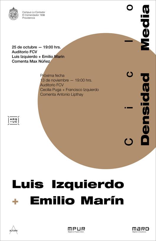 OCT 25 Ciclo Densidad Media | Luis Izquierdo + Emilio Marín