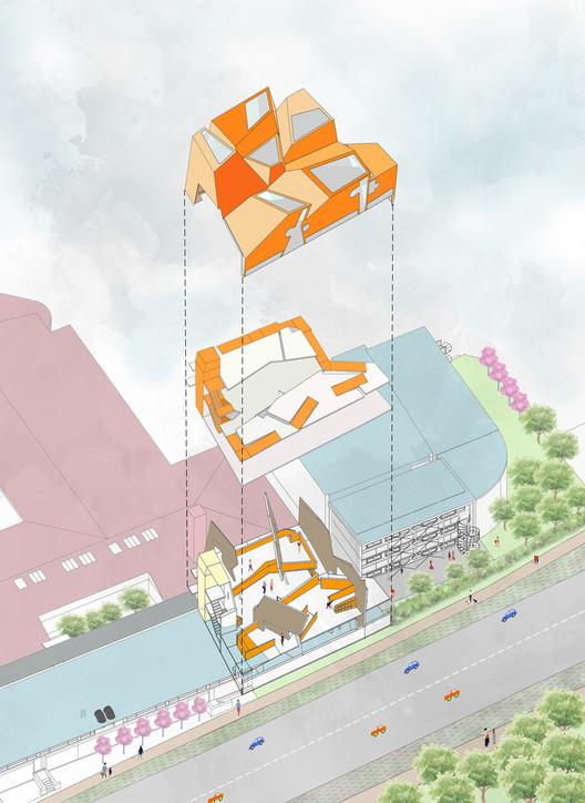 CLT Innovation Center for the Arts University Bournemouth / CRAB Studio. Image Courtesy of CRAB Studio