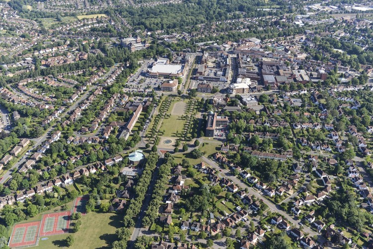 International Design Competition: Re-Imaging the Garden City, Aerial photo