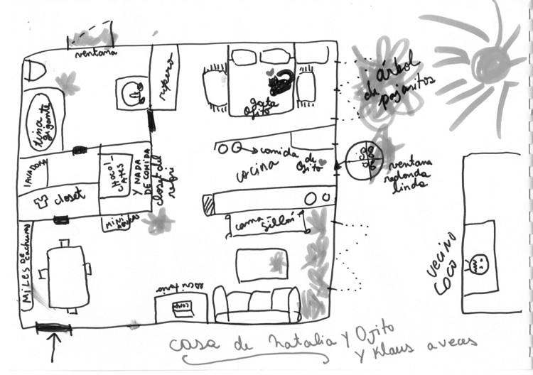 Estos dibujos exploran la intimidad de cómo habitan los chilenos, Cortesía de HABITAR