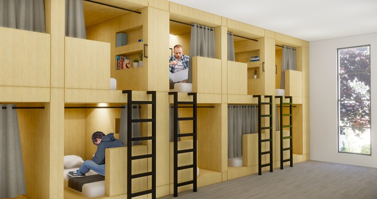 """Re-Habit"" Transforms Empty Big Box Stores into Housing for the Homeless, © KTGY"