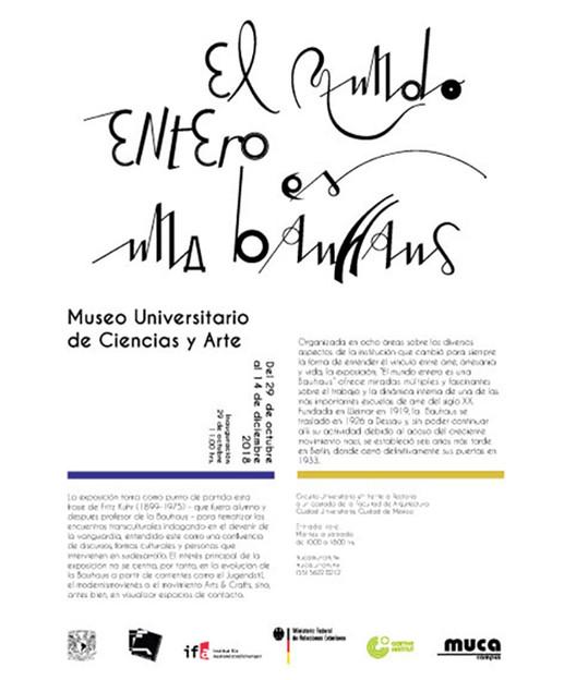 """Inauguración de la exposición """"El mundo entero es una Bauhaus"""", MUCA Campus - UNAM"""