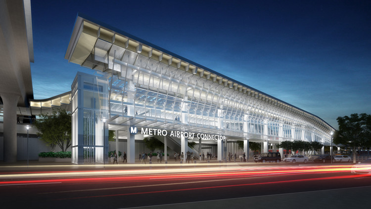 LA Metro Releases New Renders of Airport Connector Station by Grimshaw, Airport Metro Connector. Image Courtesy of GRIMSHAW