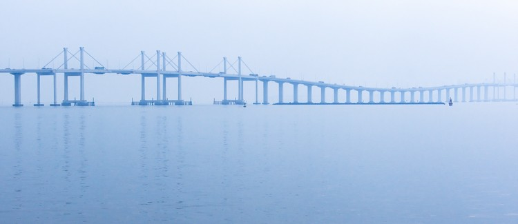The World's Longest Sea Bridge Opens in China