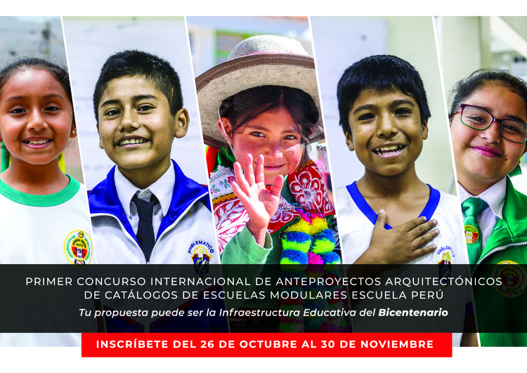 Concurso Internacional 'Escuela Perú' invita a diseñar catálogos de escuelas modulares en cinco zonas bioclimáticas del país, Cortesía de PRONIED - MINEDU