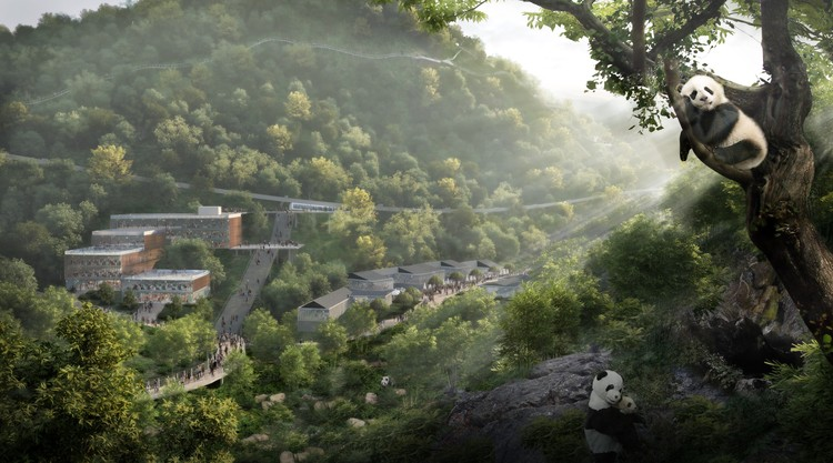 Sasaki Designs a Panda Reserve in Chengdu, China to Aid Wildlife Preservation, Courtesy of Sasaki