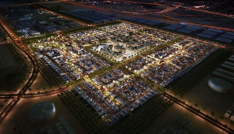 Cities Designed by Famous Architects, An aerial view of the planned Masdar City.