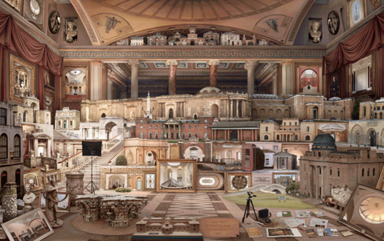 OAT 2019 Open call: The Architecture of Degrowth, Emily Allchurch, Grand Tour: In Search of Soane (after Gandy), 2012.
