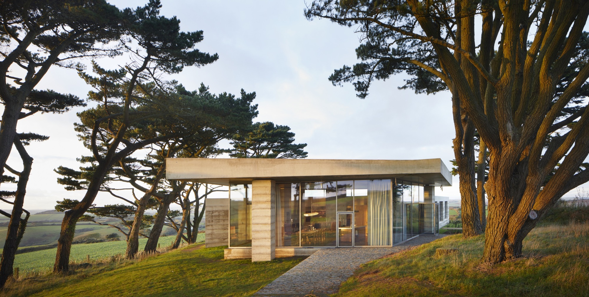 Peter Zumthor's Rammed Concrete Retreat for Living Architecture Nears Completion in England