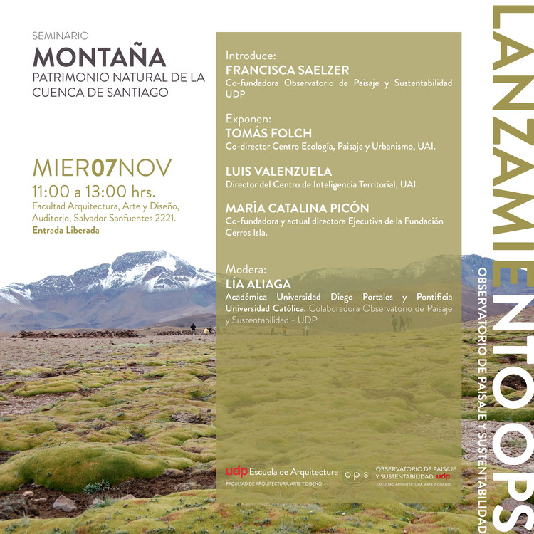 """Seminario """"Montaña, patrimonio natural de la cuenca de Santiago"""""""