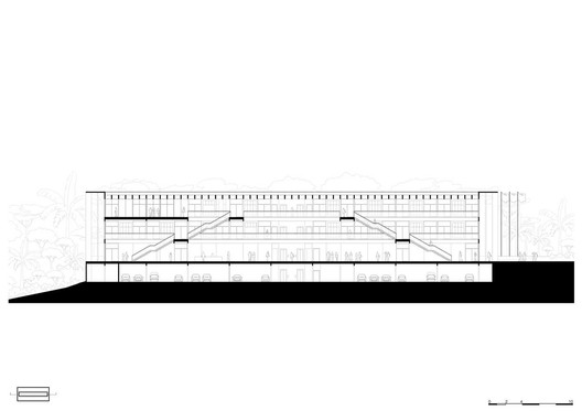 Section. Image by KAAN Architecten + URBsp Arquitetura
