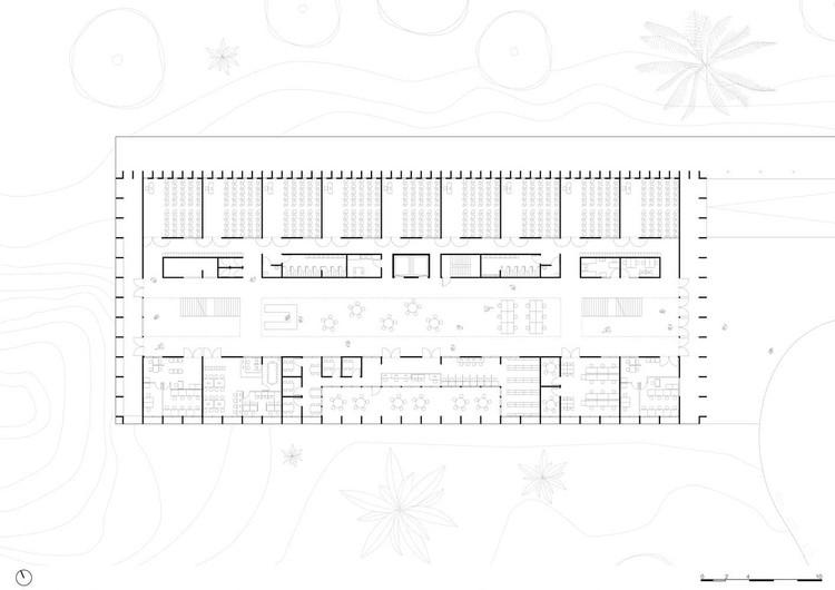 Floor plan. Image by KAAN Architecten + URBsp Arquitetura