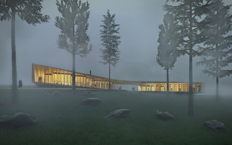 "The Appalachian ""Long Lodge"" Optimizes Mass Timber Construction for Sustainable Design, Courtesy of Yueqi Li"