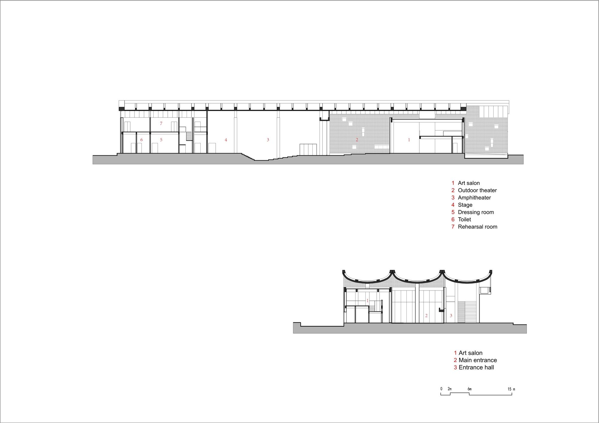 Plan Dressing En U gallery of tian han cultural park / wcy regional studio - 54