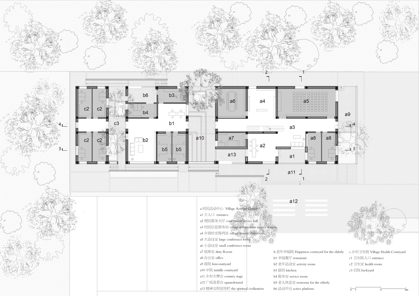 Gallery Of Village Center In Sanhe Wall Architects Of Xauat 16